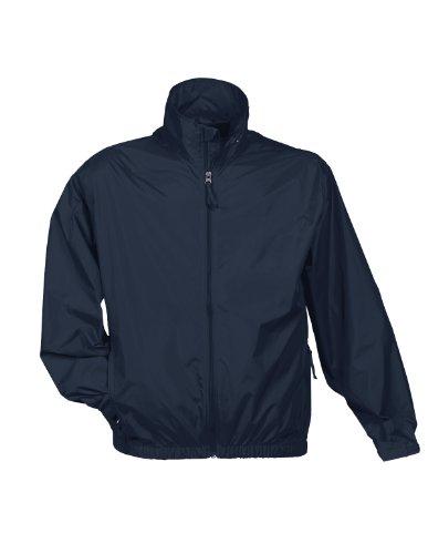 Tri-Mountain Men's Lightweight Water Resistant Jacket Navy - Windbreaker Jacket Nylon