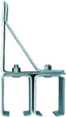 2 Pack National N104-406 Double Box Rail Bracket With Lag Bolt - Galvanized