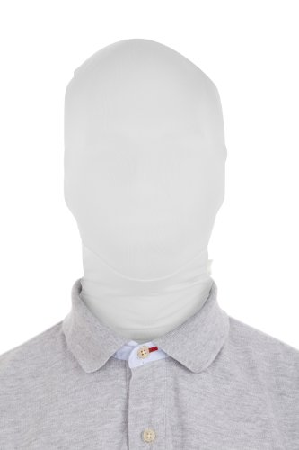All White Mask (Morphsuits Morphmask Original, White, One Size)