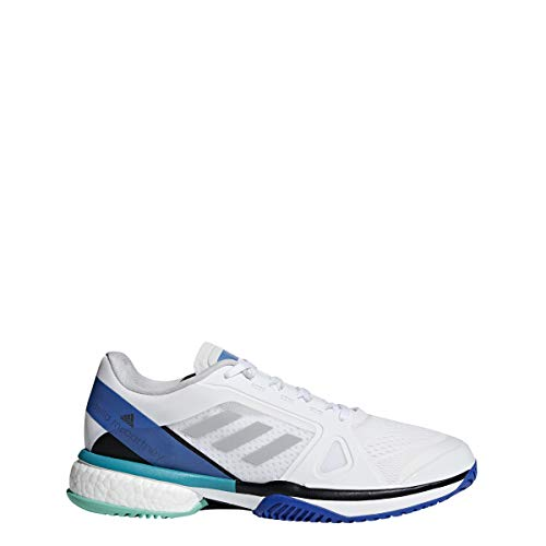 adidas Women's aSMC Barricade Boost White/Stone/Ray Blue 8.5 B US