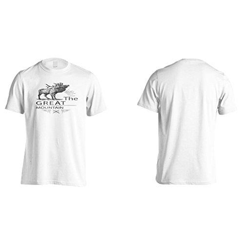 Neue Hirsche Wilder Berg Herren T-Shirt m218m