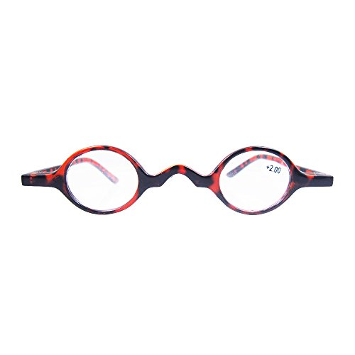 Designer Readers Cute Small round Oval Vintage Reading Glasses Eyeglasses (+1.75, Tortoise - Frames Round Tortoise Shell Eyeglass