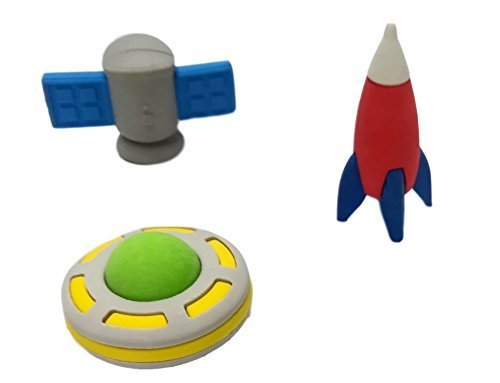 OHill Pack of 28 3D Outer Space Pencil Erasers Puzzle Erasers for Party Favors Supplies Classroom Treasure Box Prizes by OHill (Image #5)