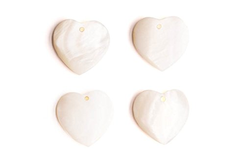 Heart Shell Charms 16x16x3mm 4pcs/pack (3-pack Value Bundle), SAVE $2