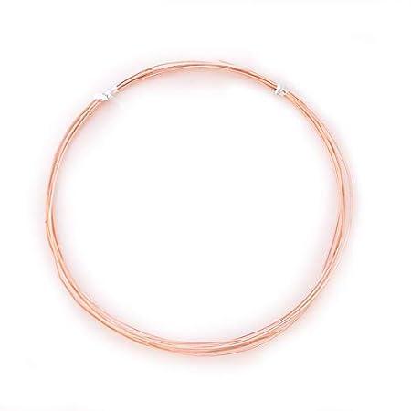 21 Gauge Round 99.9/% Pure Copper Wire CDA #110-25FT from Craft Wire Half Hard