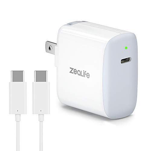 USB C Fast Charger, 18W USB C Power Adapter PD Wall Charger with 6ft USB C to C Cable, Foldable Plug for iPad Pro 2018, Samsung Galaxy Note 9, 10, 10+, Galaxy S8, S8+, S9, S10, Google Pixel 2/3/4/2X