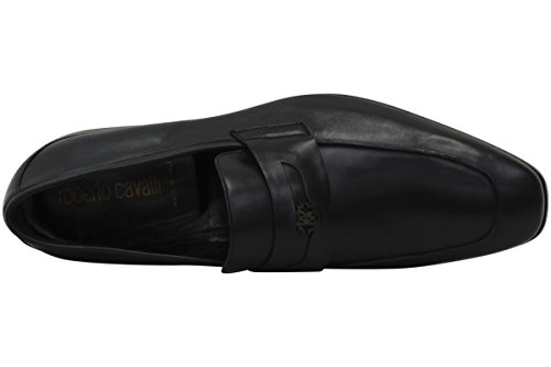 Roberto Cavalli Mens Loafers Svart Slip-on Skor