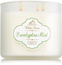 Bath & Body Works White Barn Eucalyptus Mint Scented 3 Wick Candle 14.5 oz./411 g
