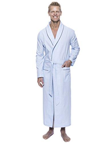 Noble Mount Twin Boat Men's Woven Cotton Robe - Crystal Blue - 2XL/3XL