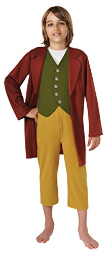 Boys Hobbit Bilbo Baggins Kids Child Fancy Dress Party Halloween Costume, S (4-6) (Hobbit Costume Toddler)