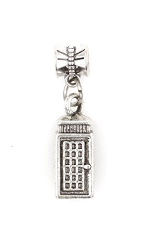 It's All About...You! 3D Phone Booth Dangling European Bead Charm ()