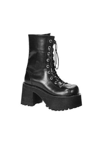 Pleaser Women's Ranger-301 Platform Calf Boot,Black,6 M US