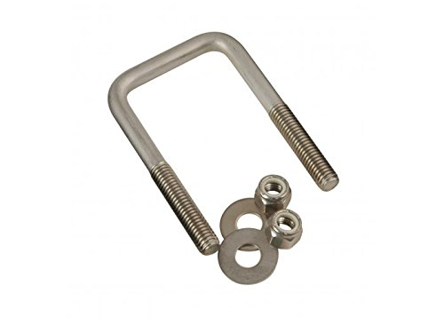 CE Smith Trailer 15502A Square U-Bolt with Washers & Nuts, 7/16