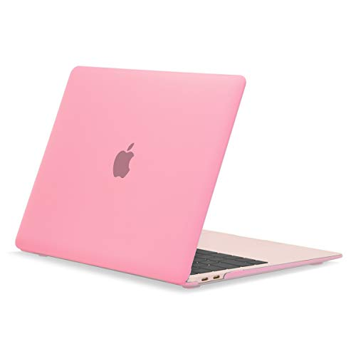 "TOP CASE MacBook Air 13 Inch Case 2020 2019 2018 Release A1932/A2179, Classic Series Rubberized Hard Case Compatible MacBook Air 13"" with Retina Display fits Touch ID - Pink"