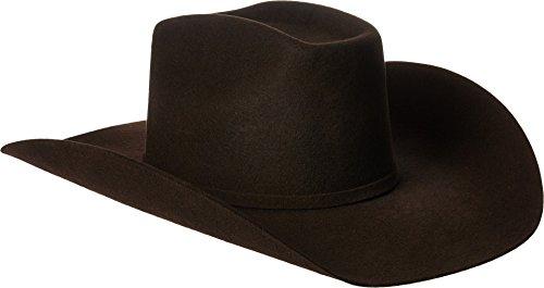 ARIAT Men's Wool 3 Piece Buckle Hat, Chocolate, 7 -