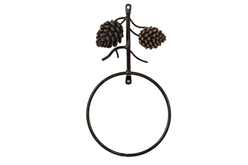 DEI Country Pinecone Towel Ring, 6-Inch - Country Towel Ring