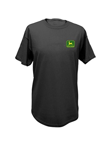 John Deere Western Shirt Mens Short Sleeve NRLAD XXL Charcoal 13001801