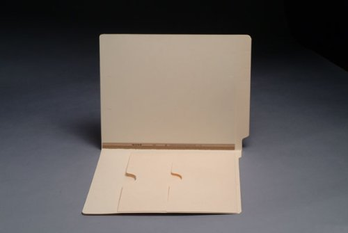 11 pt Manila Folders, Full Cut End Tab, Letter Size, Double Pockets Inside Front, U-File-M Strip (Box of 50) by Ecom Folders
