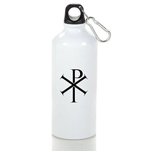 Roman Catholic Cross Symbol Cool Aluminum Sports Water Bottle - 400/500/600ML 500ml (Bubba Water Bottle 12 Oz)