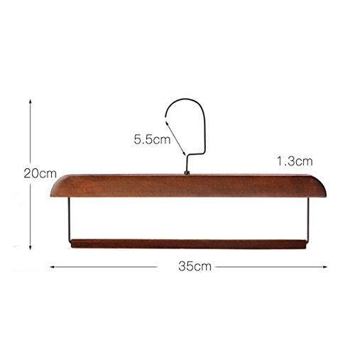 FORWIN- Hanger Solid Wood Flocking Non-slip Trousers Clothing Shop Hotel Trousers Hanging Scarf Hanger 10 Pack hanger