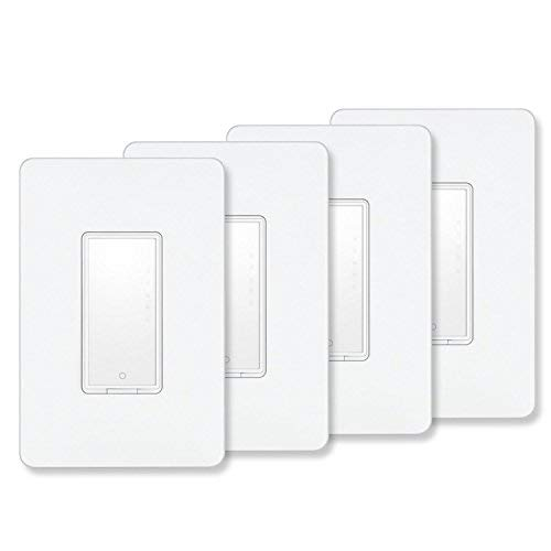 Smart Switch by MartinJerry | works with Alexa, Smart Home Devices Works with Google Home, No Hub required, Easy installation and App control as Smart Switch On/Off/Timing, Single Pole (4 Pack)