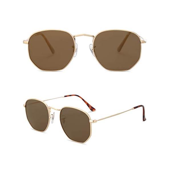 2286fdfaea SOJOS Small Square Polarized Sunglasses for Men and Women Polygon Mirrored  Lens SJ1072