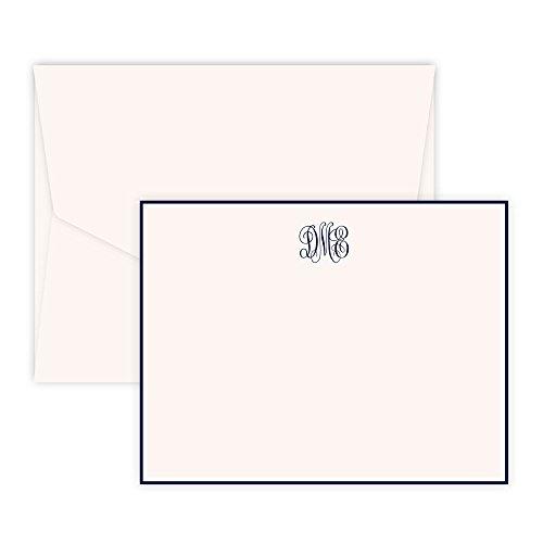 Personalized Delavan Monogram Card - Raised Ink (Ivory)