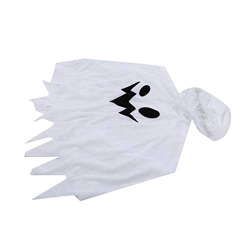 Airlove Halloween Unisex Cloak Cape Tops Uniform Outfit Cosplay Costumes Holiday Decoration,White L]()