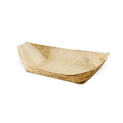 PacknWood Bamboo Leaf Boat, 6.2'' x 3.5''  (Case of 500)