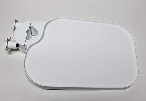 Pole Post Mount Shelf Tray Utility Access Table Dental Medical WHITE