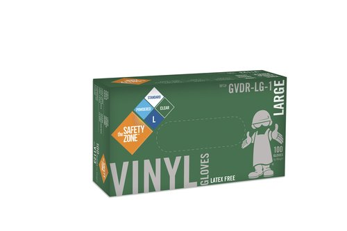 Safety Zone GVDR Vinyl Gloves, Powdered (Large) (1000ct) by The Safety Zone (Image #1)