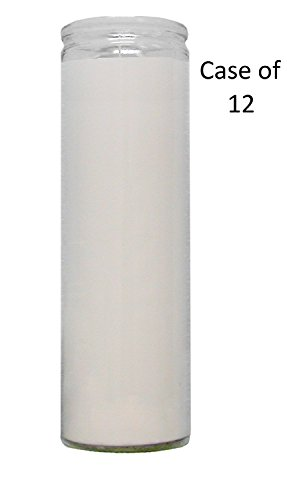 7 DAY Candle Vigil Candle Prayer Candle Novena Vigil Candles Devotional Candles (12 Pack) (Pick Your Color) Holiday Candle Paraffin Wax (WHITE 7 DAY CANDLE 12 PACK VIGIL CANDLE) - Seven Candles