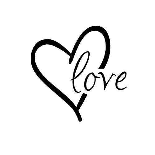 CUGBO Love Wall Sticker Vinyl Heart Wall Art Decal Wall Saying Quotes for Valentines Day Home ()
