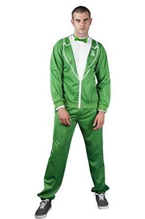 Verde irlandés de San Patricio Día esmoquin disfraz despedida de ...