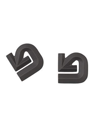 Burton Aluminum Logo Mats, Black (Aluminum Logo Mat Burton)