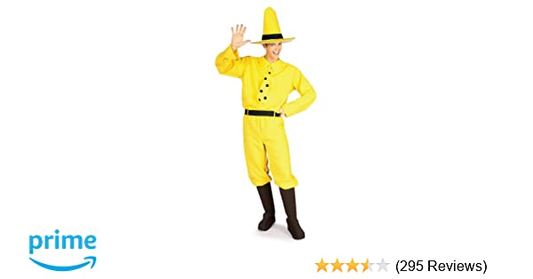 af4303ae46f Amazon.com: Rubie's Curious George Man In The Hat, Yellow, One Size: Toys &  Games