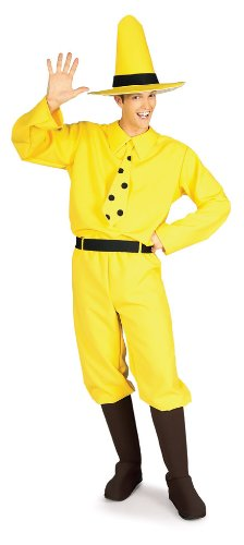 Adult Zombie Banana Costumes (Rubie's Costume Curious George Man In The Hat, Yellow, One Size)