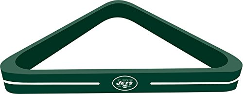 Imperial Officially Licensed NFL Merchandise: Wood Triangle Billiard/Pool Ball Rack, New York Jets (Pool Table Nfl Cover)