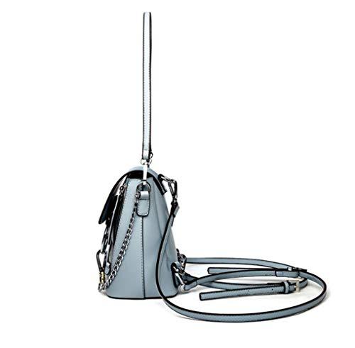 Chain Bag Shoulder Woman Backpack Mini Casual functional Multi Frosted Blue Shoulder handbag qzqAwE5