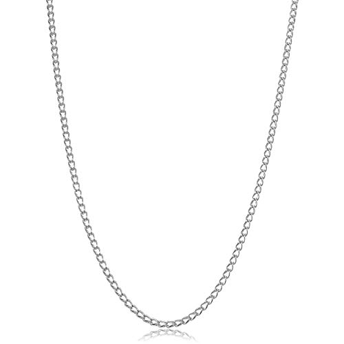 Kooljewelry Sterling Silver Cage Link Chain Necklace (2 mm, 20 inch)