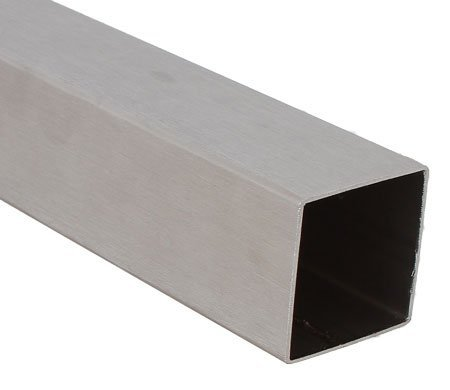 Acero inoxidable tubo cuadrado 40 x 2,0 mm - longitud 200 cm ...