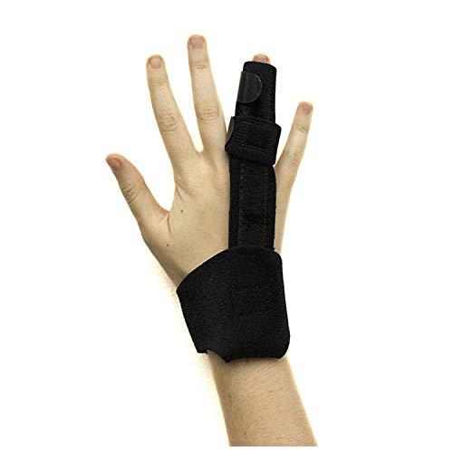 Trigger Finger Splints - Support Sprains, Broken Fingers,Tendon Release, Pain Relief - Adjustable Fixing Belt with Built-in Aluminium Fits All Fingers (Black)