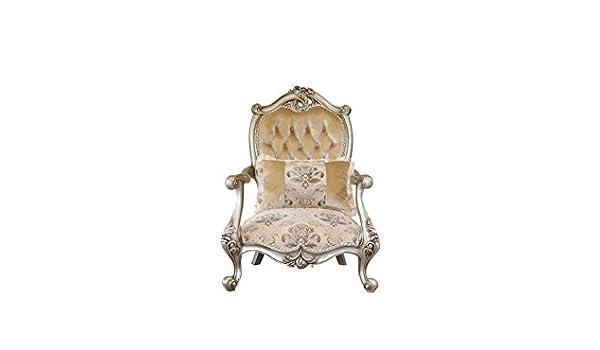 Peachy Amazon Com European Furniture Valeria Accent Chair Kitchen Creativecarmelina Interior Chair Design Creativecarmelinacom