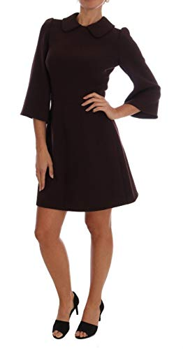 Dolce & Gabbana Bordeaux Stretch A-Line Shift Dress
