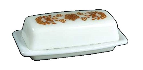 Corning Ware / Pyrex Butterfly Gold ( Quarter Pound Covered Butter Dish ) ()