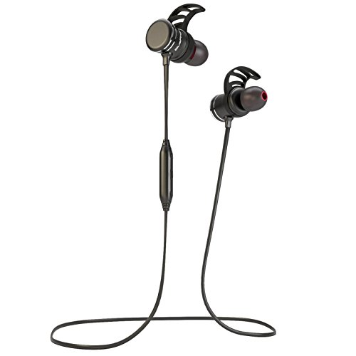 Bluephonic Bluetooth Headphones – Magnetic Wireless Earbuds w/ Microphone   Impeccable HD Sound   Sports Running & Gym Workout Noise Cancelling Headset   Fit In Ear Sweatproof Earphones   8 Hour Play