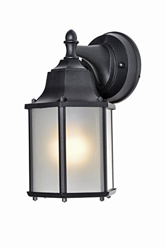 - Maxim Lighting 56926 Side Door LED Outdoor Wall Mount, Black Finish, 5.5 by 10-Inch