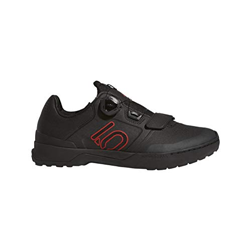 Five Ten Kestrel Pro Boa Mens Mountain Bike Shoes, Black/Red/Grey Six, 9