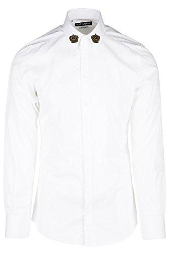 [Dolce&Gabbana men's long sleeve shirt dress shirt white US size 41 (US 16) G5DM6Z GE500 W0800] (Dolce & Gabbana Long Sleeve Dress Shirt)