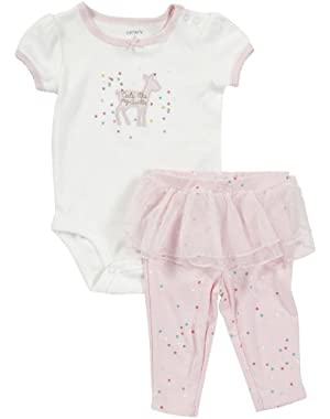 2-pc S/S Bodysuit Set